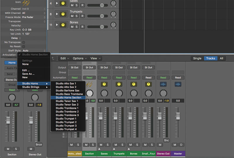 Studio Horns in Logic Pro X - Step 5