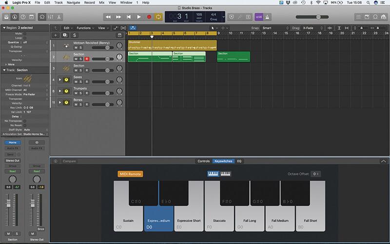 Studio Horns in Logic Pro X - Step 6