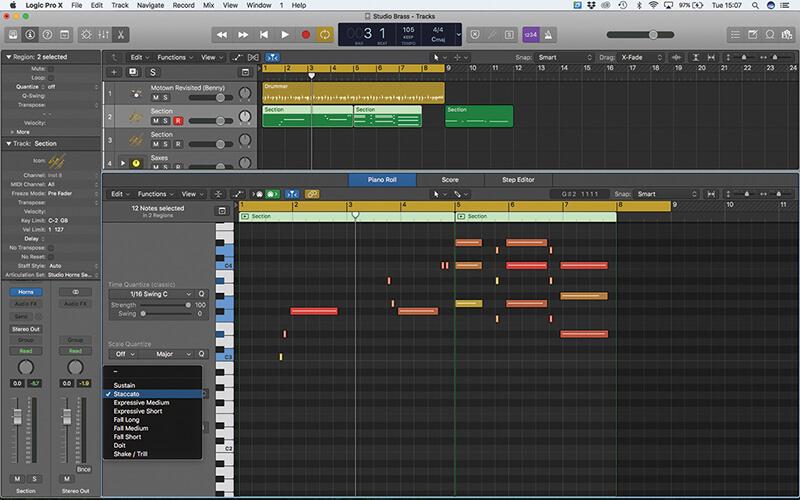 Studio Horns in Logic Pro X - Step 7