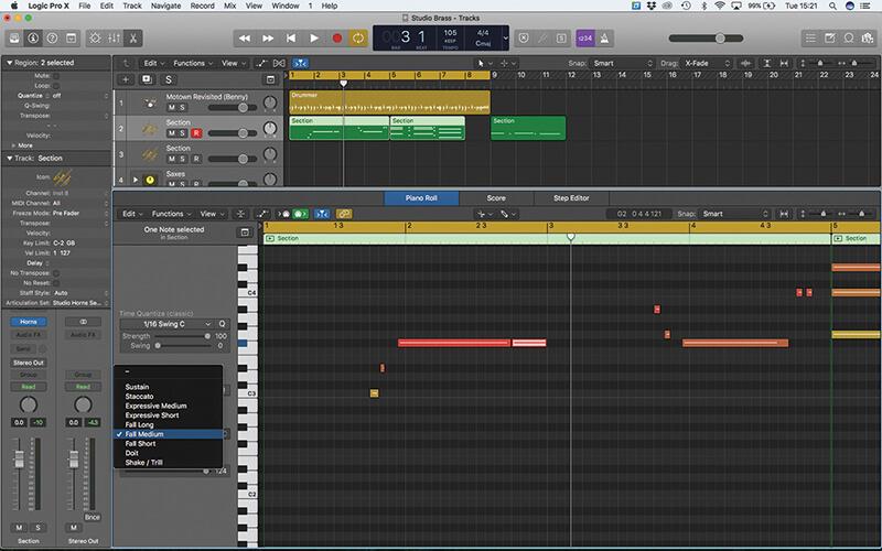 Studio Horns in Logic Pro X - Step 8
