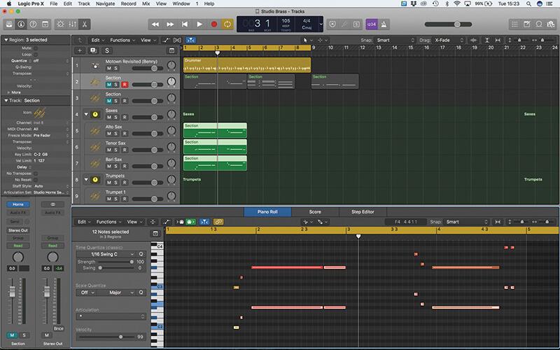 Studio Horns in Logic Pro X - Step 9