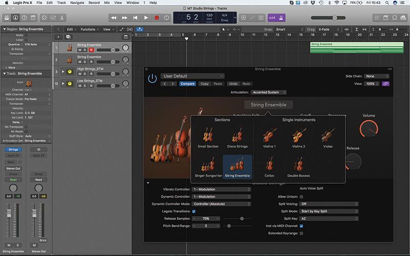 Mastering the new Studio Strings In Logic Pro X - Step 1