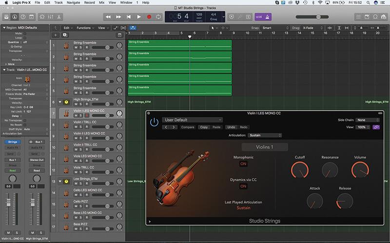 Mastering the new Studio Strings In Logic Pro X - Step 10