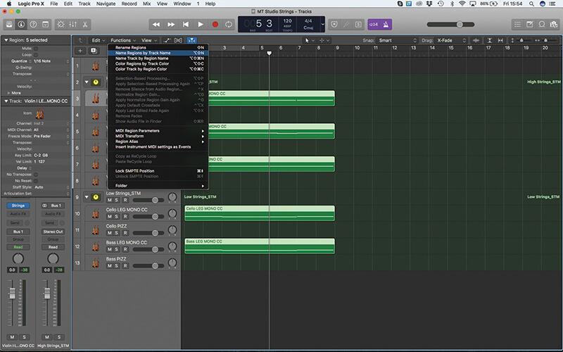 Mastering the new Studio Strings In Logic Pro X - Step 11