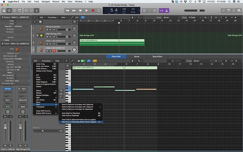 Mastering the new Studio Strings In Logic Pro X - Step 12