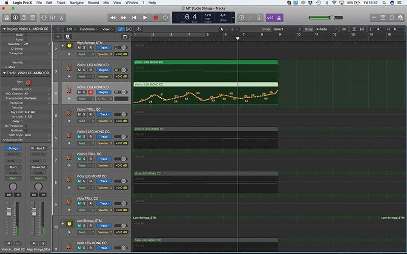 Mastering the new Studio Strings In Logic Pro X - Step 13