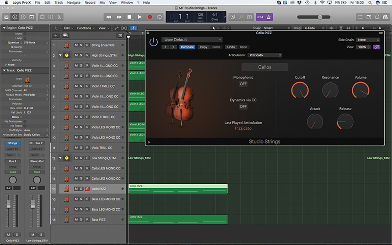 Mastering the new Studio Strings In Logic Pro X - Step 15