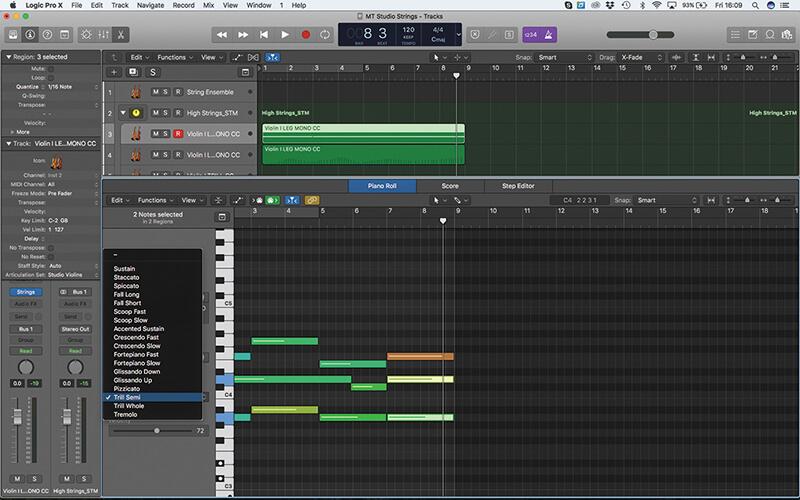 Mastering the new Studio Strings In Logic Pro X - Step 16