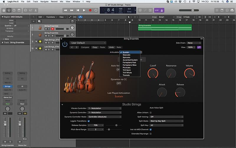 Mastering the new Studio Strings In Logic Pro X - Step 2