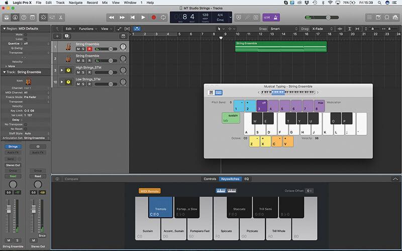 Mastering the new Studio Strings In Logic Pro X - Step 3