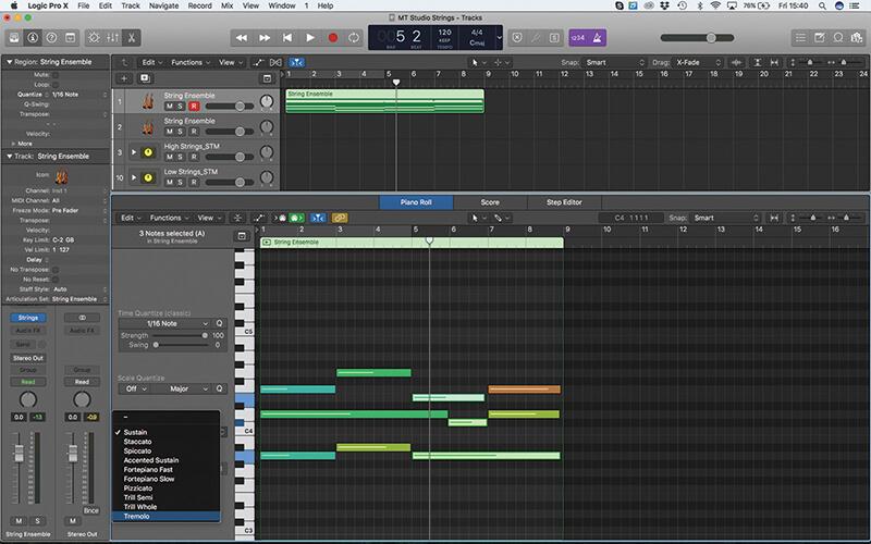 Mastering the new Studio Strings In Logic Pro X - Step 4