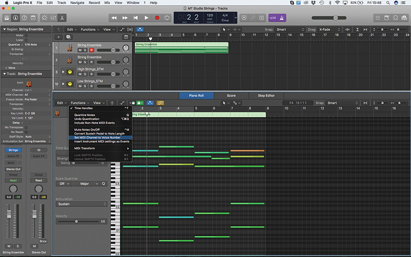 Mastering the new Studio Strings In Logic Pro X - Step 8