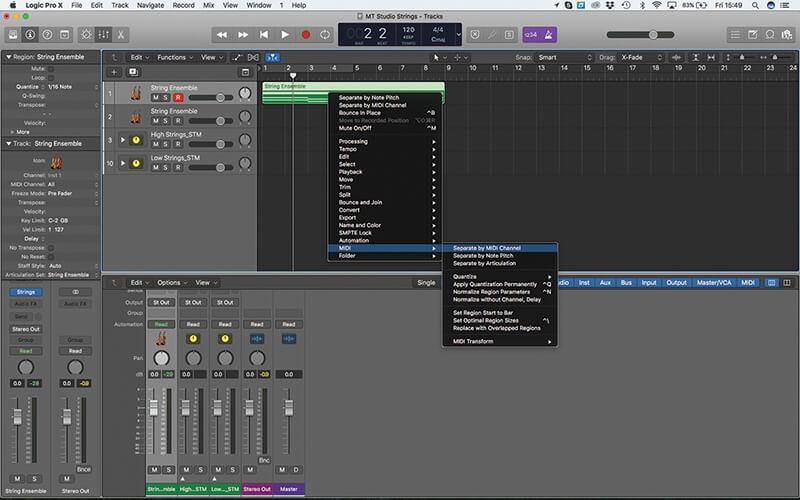 Mastering the new Studio Strings In Logic Pro X - Step 9