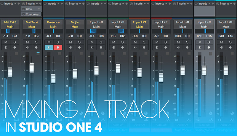 How to mix your Track in Studio One 4