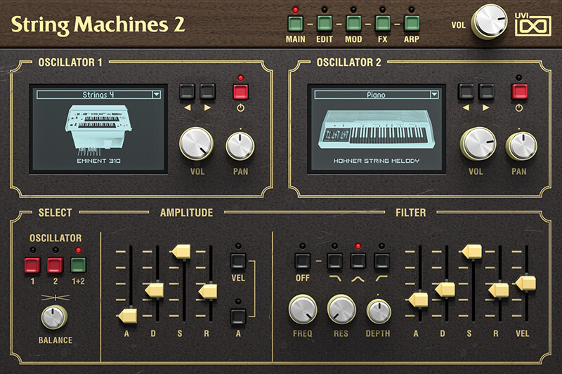UVI String Machines 2 - Main GUI