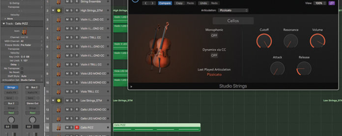 Mastering the new Studio Strings In Logic Pro X - Featured Image