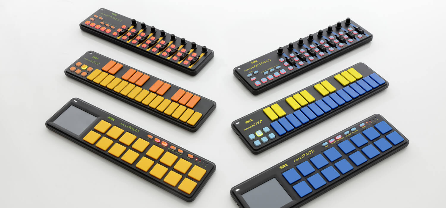 Korg unveils colourful limited edition models to nanoseries