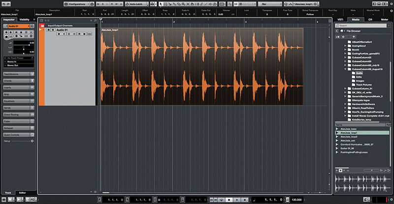 Exploring Time and Pitch in Cubase 9.5 - Step 2
