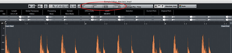 Exploring Time and Pitch in Cubase 9.5 - Step 4