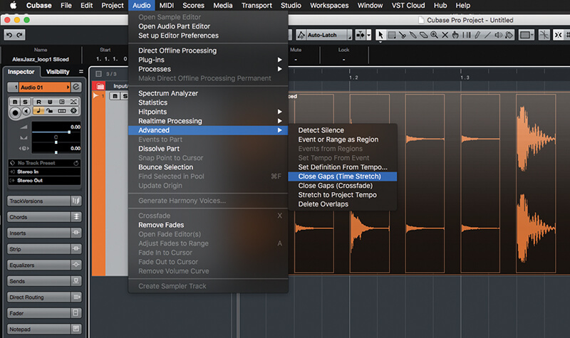Exploring Time and Pitch in Cubase 9.5 - Step 11
