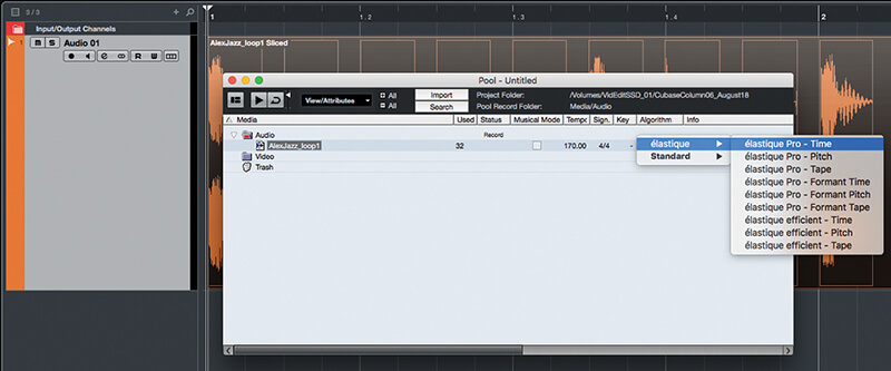 Exploring Time and Pitch in Cubase 9.5 - Step 12