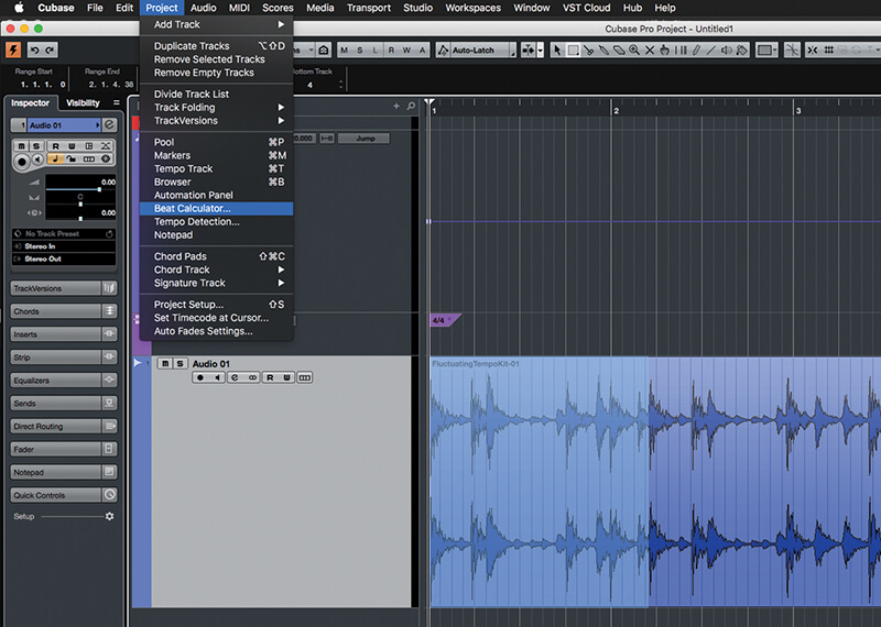 Exploring Time and Pitch in Cubase 9.5 - Step 15