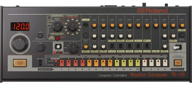 6 of the Best Affordable Drum Machines - Roland TR-08