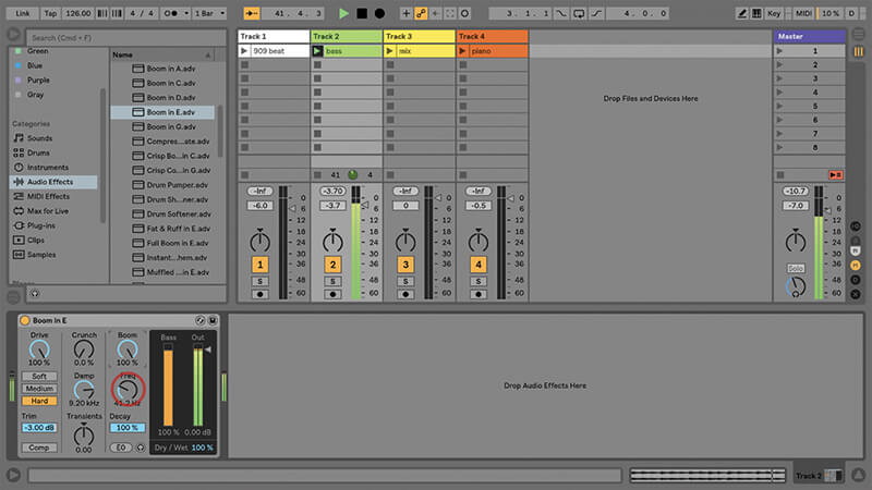Using the New Drum Buss in Ableton Live - Step 7