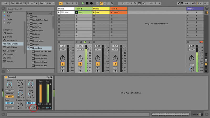 Using the New Drum Buss in Ableton Live - Step 10