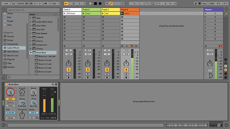 Using the New Drum Buss in Ableton Live - Step 11