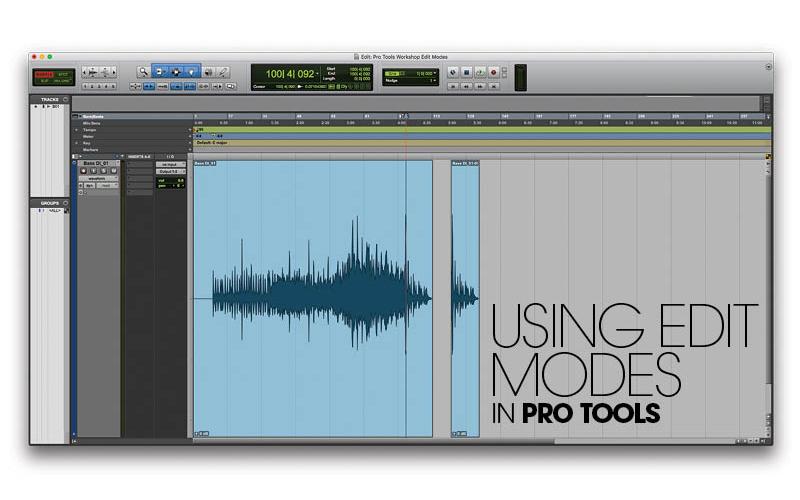Pro Tools Edit Mode tutorial header