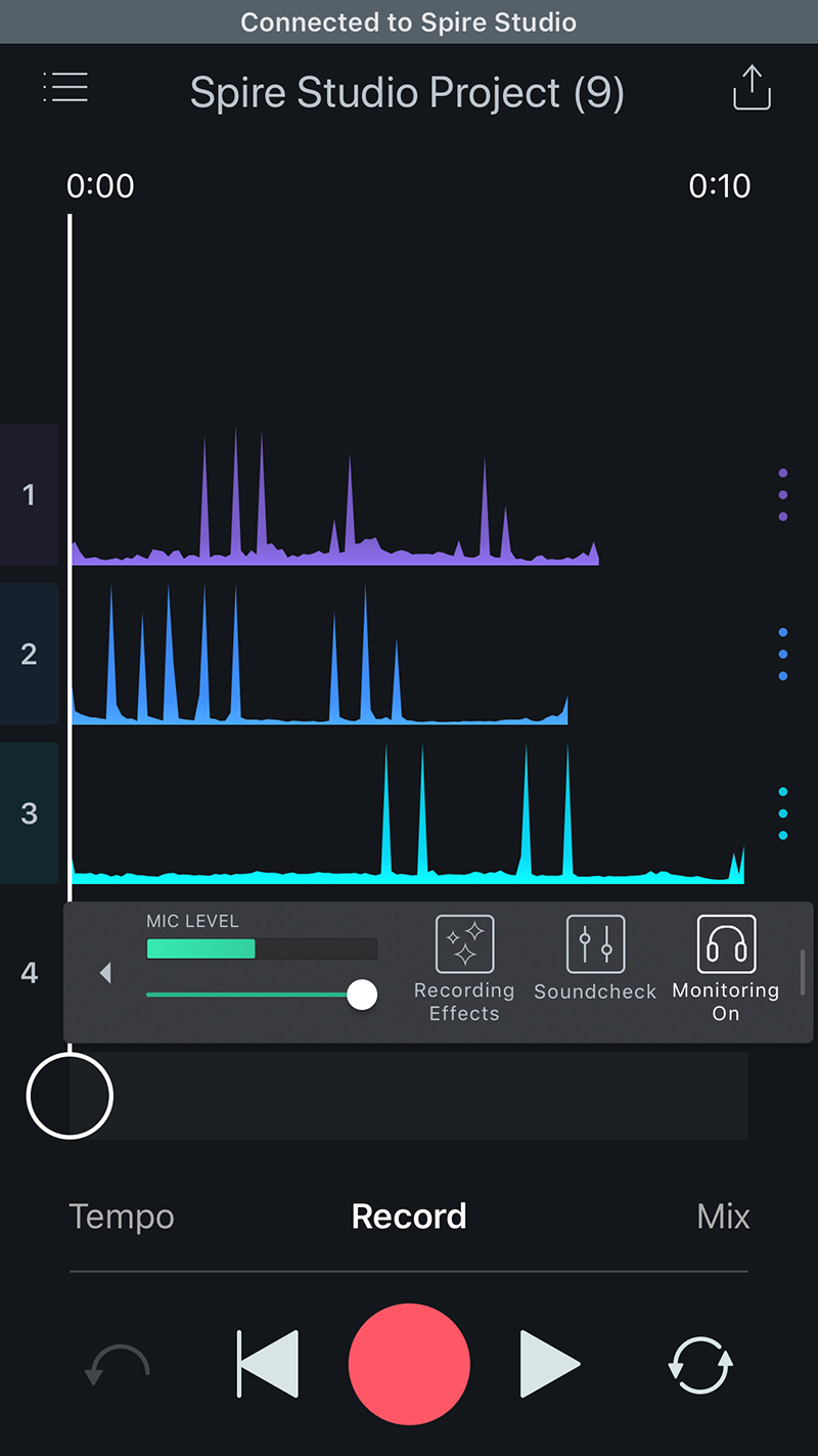 iZotope Spire Audio Record