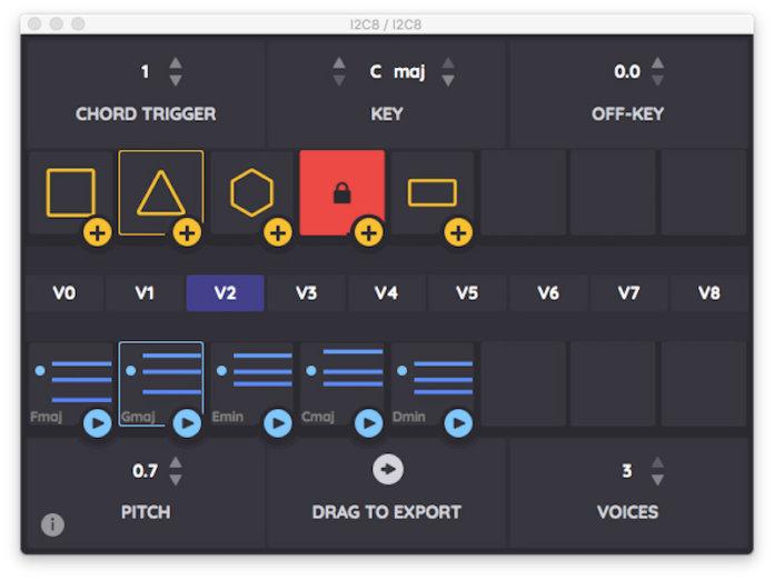 Re-compose i2c8 midi chord generator
