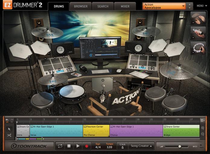 Toontrack Action! EZX interface