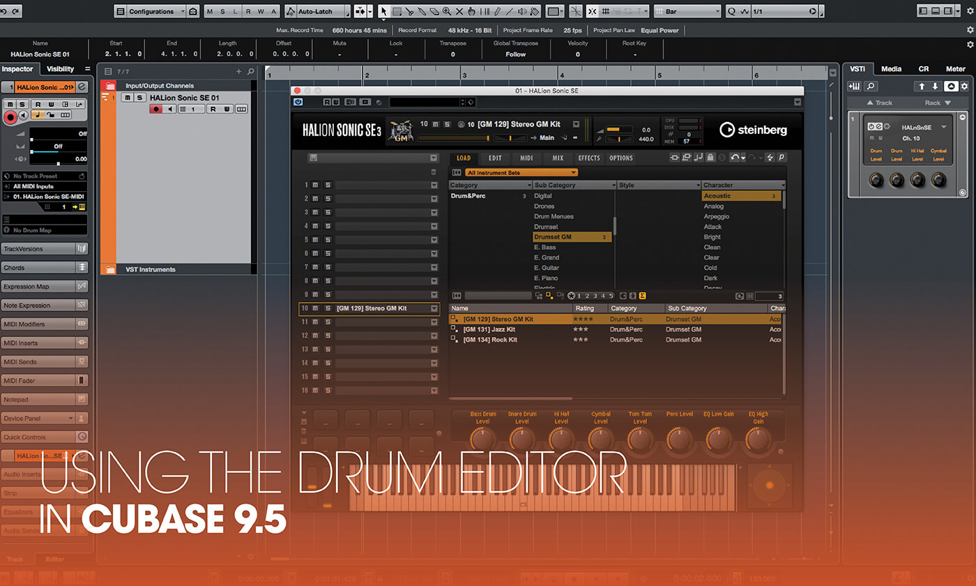 A step-by-step guide to using the drum editor in Cubase 9 5