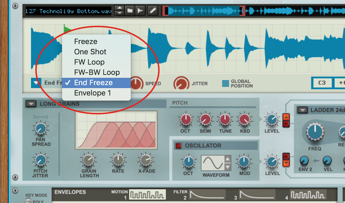 Sound design with Grain Reason 10