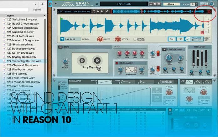 Reason 10 tutorial Grain sound design