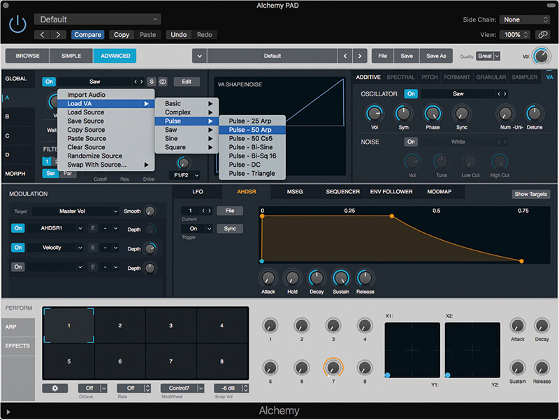 Lush analogue pads with Alchemy in Logic Pro X