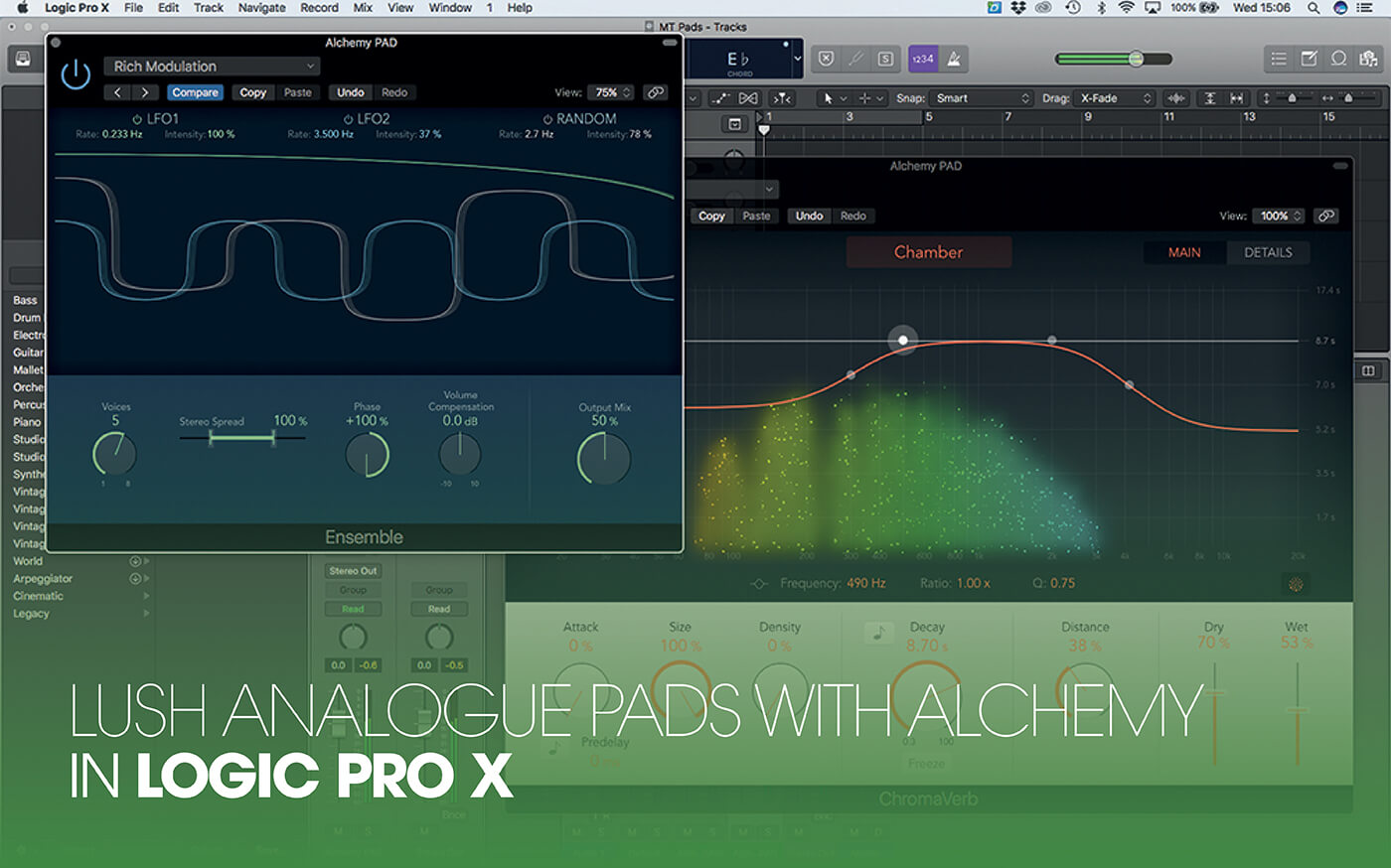 How to create analogue-synth-style pads using Alchemy in Logic Pro X