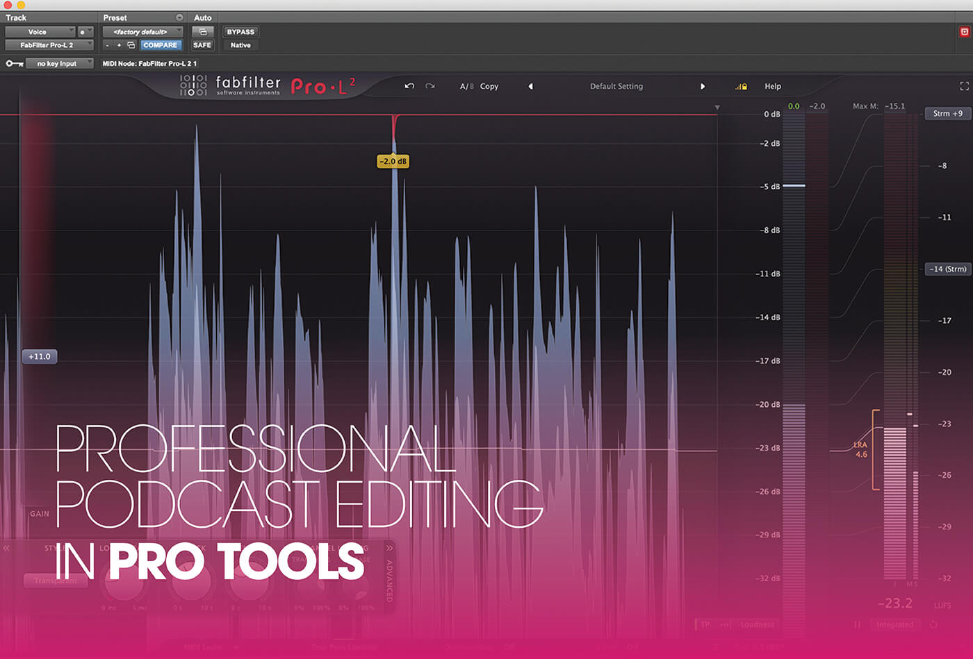 Professional podcast editing in Pro Tools