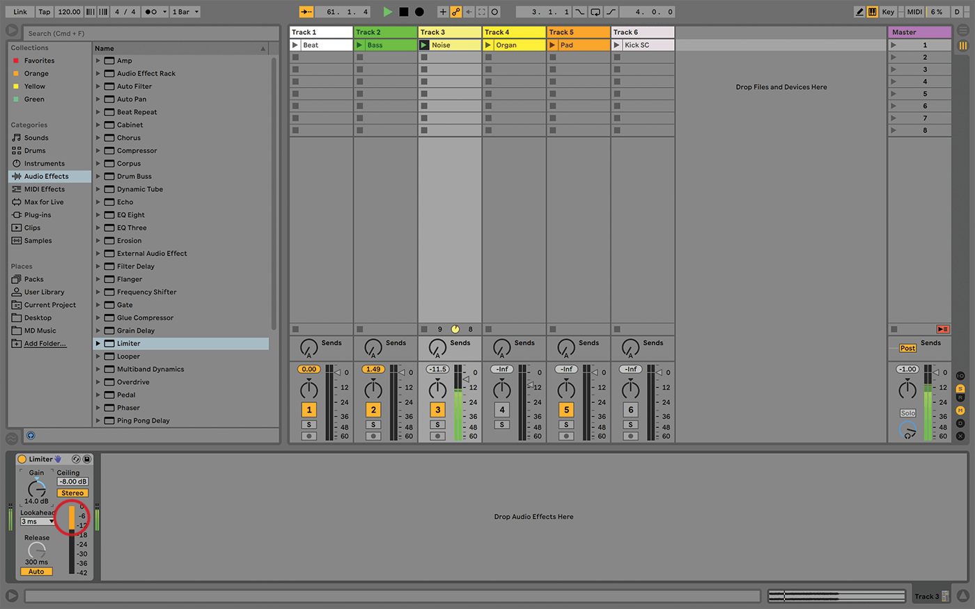 Compression and limiting demystified in Ableton Live tutorial