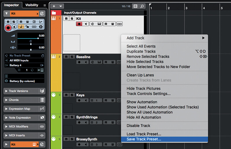 Speed up your workflow with presets and templates in Cubase