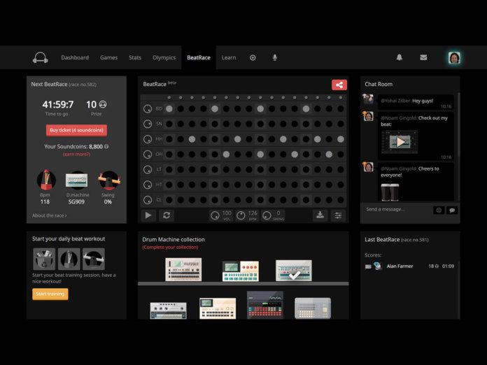 BeatRace interface