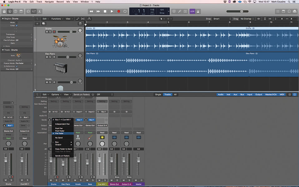 Using bus sends and aux channels in Logic Pro X - MusicTech