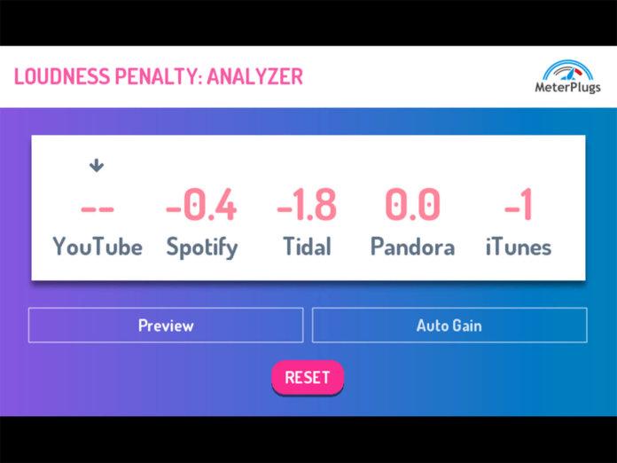 MasterPlugs Loudness Penalty Plug-in