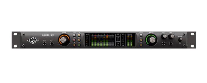 universal audio apollo x6 front panel