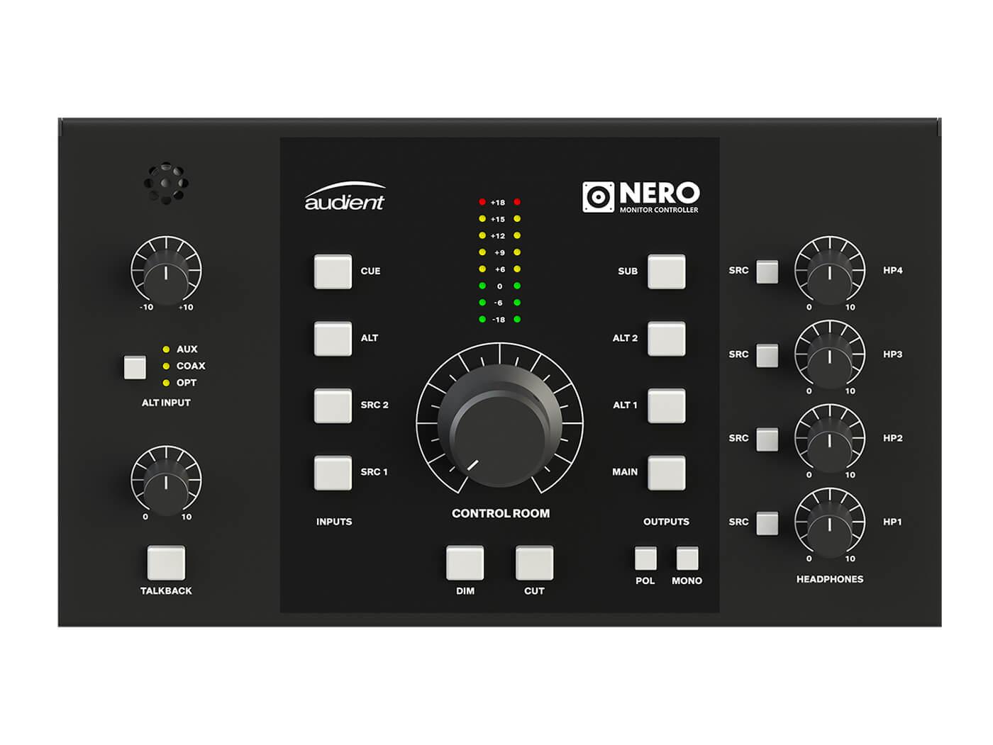 Audient Nero Desktop Monitor Controller controls