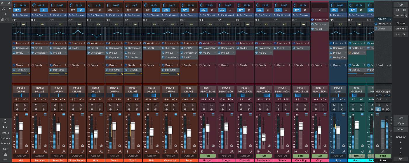 PreSonus Studio One 4.5 hardware controls