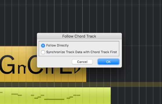 Using Chord Tracks in Cubase