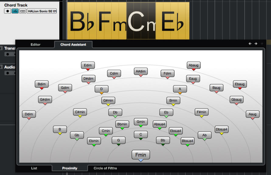 Understanding chord tracks and chord pads in Cubase